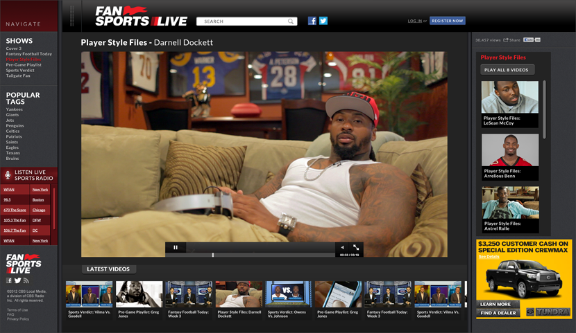 Fan Sports Live Player